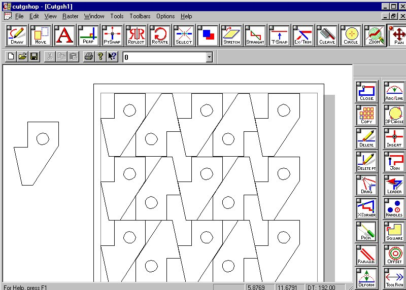 Raster to Vector and Vector to Raster Conversion - Cutting Shop